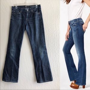 7 For All Mankind Dark blue wash bootcut jeans